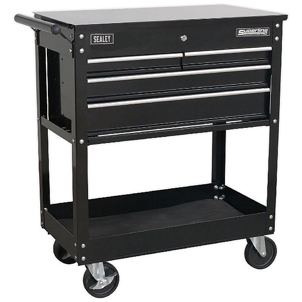 Sealey 4 Drawer Trolley With Lockable Top
