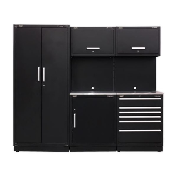 Sealey Modular Workshop Combination with Stainless Steel Worktop – Package A
