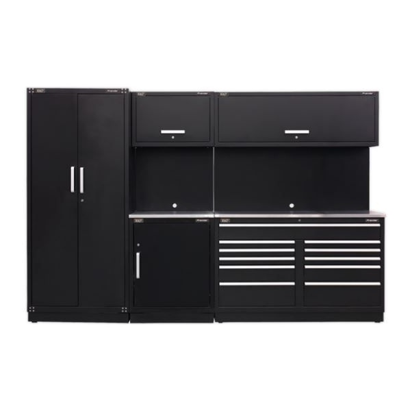 Sealey Modular Workshop Combination with Stainless Steel Worktop – Package B