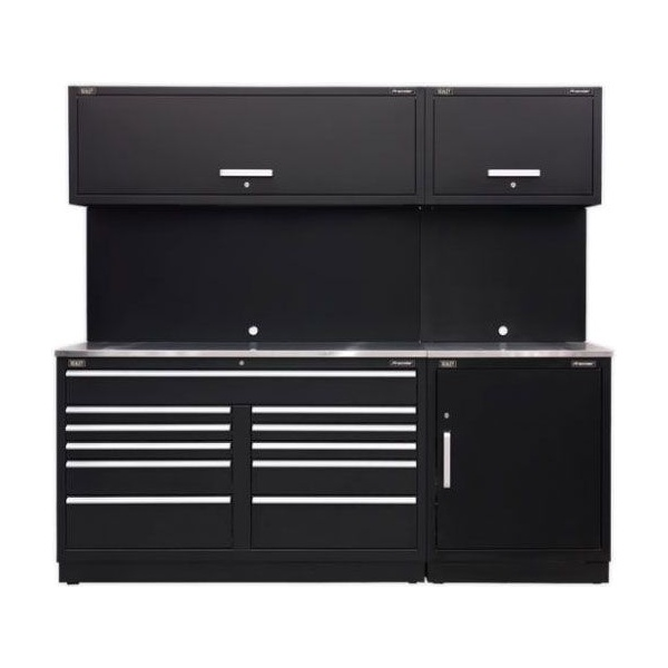 Sealey Modular Workshop Combination with Stainless Steel Worktop – Package C