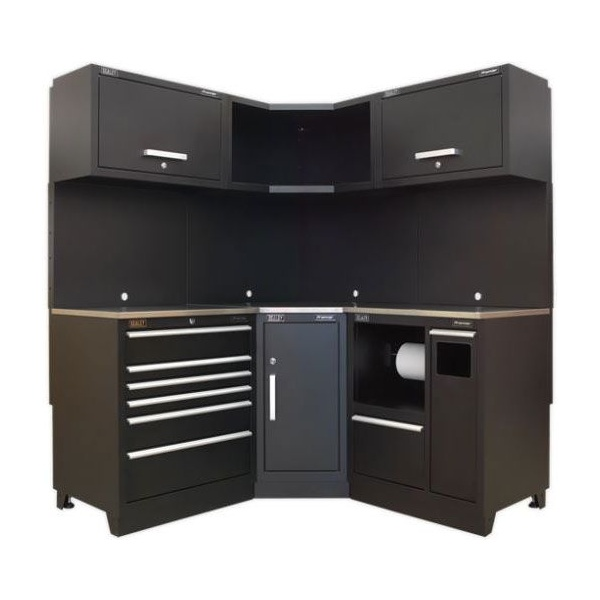 Sealey Modular Workshop Combination with Stainless Steel Worktop – Package D