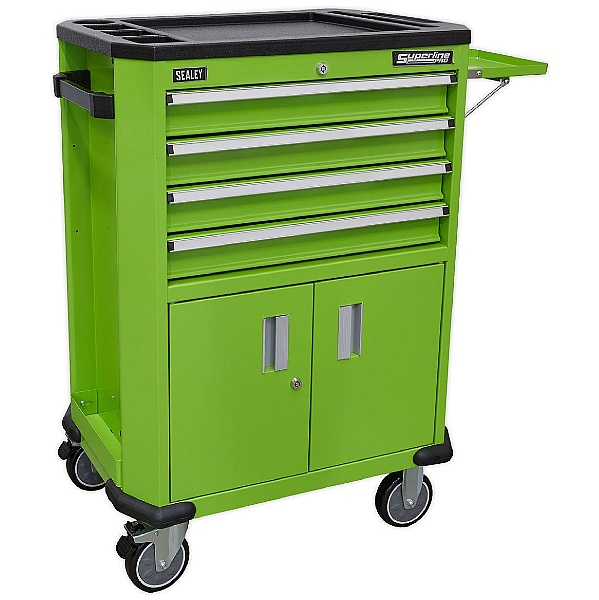 Sealey 4 Drawer And 2 Door Cupboard Tool Trolley
