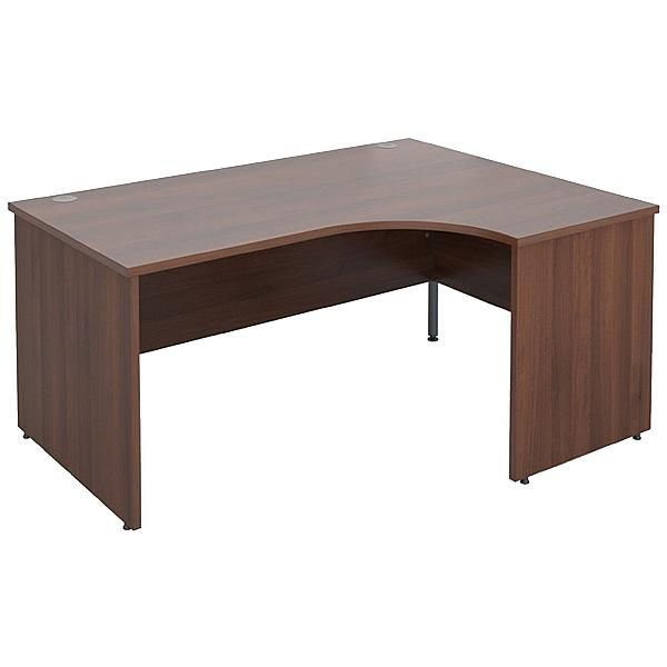 Malbec II Walnut Panel End Ergonomic Desks