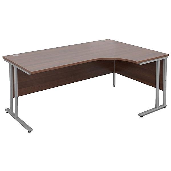 Malbec II Walnut Cantilever Ergonomic Desks