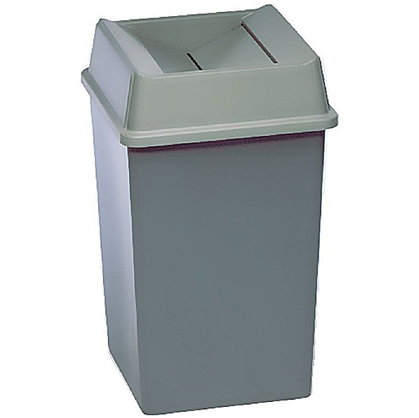 Styleline Square Waste Containers with Lids 132.5L