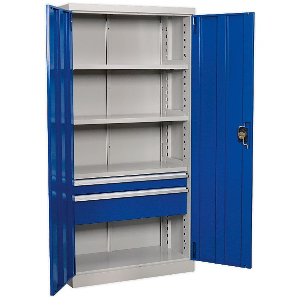 Sealey Industrial 3 Shelf Cabinet With Drawers