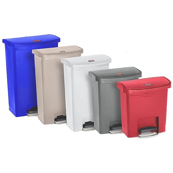 Slim Jim Front Step-On Resin Waste Containers