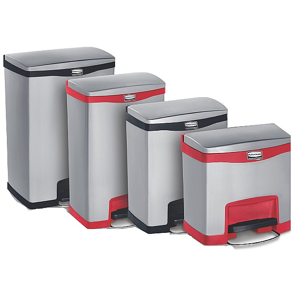 Slim Jim Front Step-On Metal Waste Containers