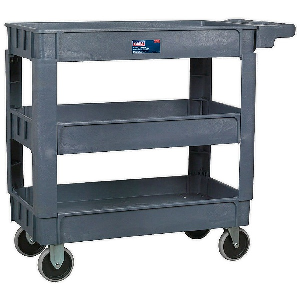 Sealey Heavy Duty Trolley 3 Level Composite with 83Kg Shelf Capacity