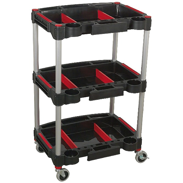 Sealey 3 Level Composite Trolley with Parts Storage