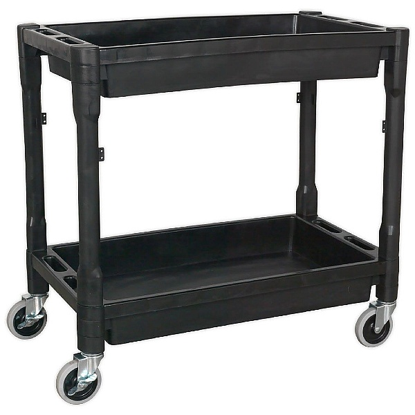 Sealey Heavy Duty 2 Level Composite Workshop Trolley with 80Kg Shelf Capacity