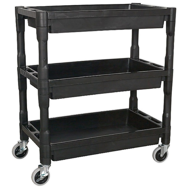 Sealey Heavy Duty 3 Level Composite Workshop Trolley with 60Kg Shelf Capacity