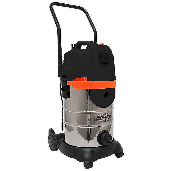 Sealey PC300BL 30L 1200W/230V Power Clean Wet & Dry Double Stage Cyclone Vacuum Cleaner