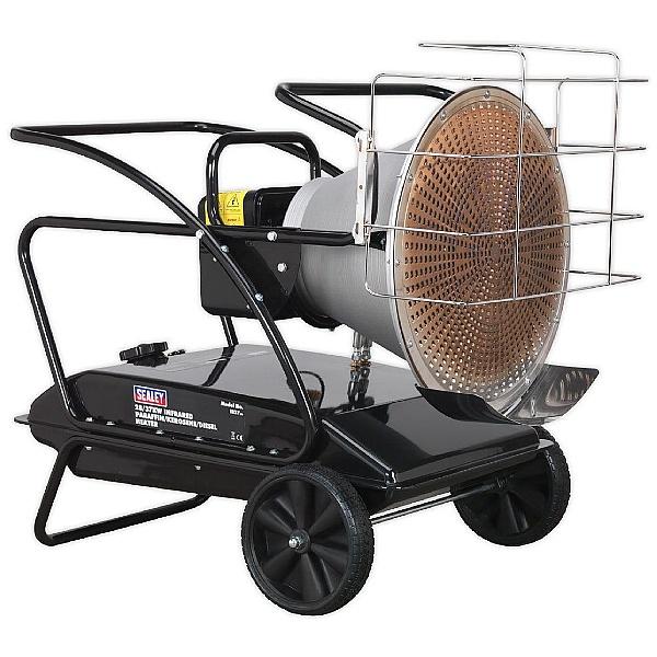 Sealey 28/37kW 230V Infrared Paraffin/Kerosene/Diesel Heater