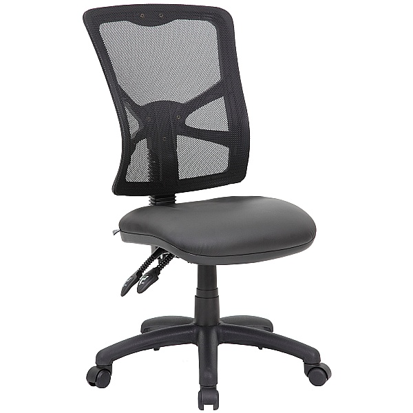 Comfort Ergo 2-Lever Leather Mesh Operator Chair