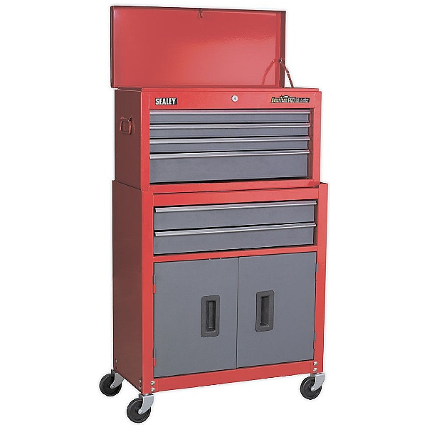 Sealey 6 Drawer Topchest & Rollcab Combination With Ball Bearing Slides