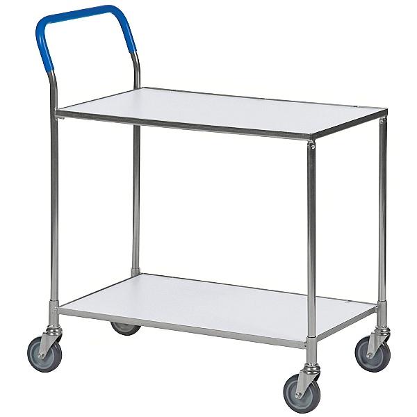 Konga Zinc Plated Shelf Trolley with Two Shelves