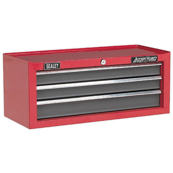 Sealey Red/Grey 3 Drawer Mid-Box with Ball Bearing Slides