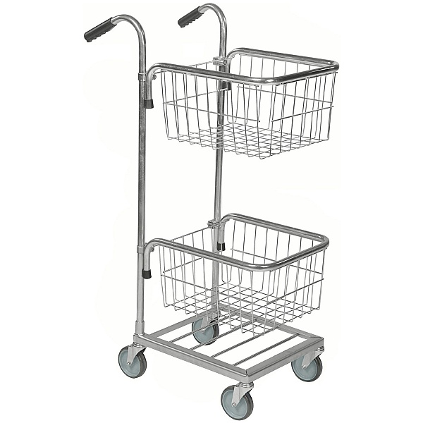 Konga Mini Mail and Picking Trolley with 2 Baskets