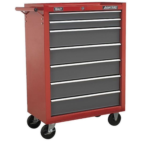 Sealey Red/Grey 7 Drawer Rollcab with Ball Bearing Slides