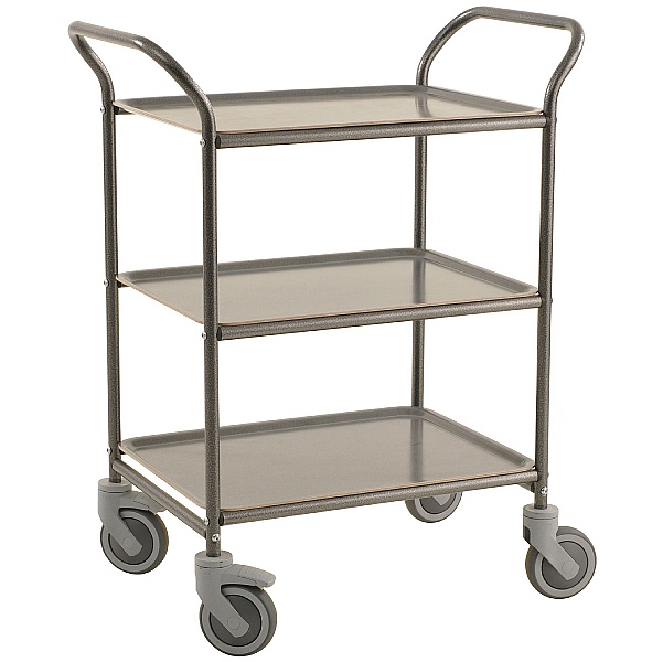 Konga 3 Tier Service Trolley with Removable Non-Slip Surface Trays