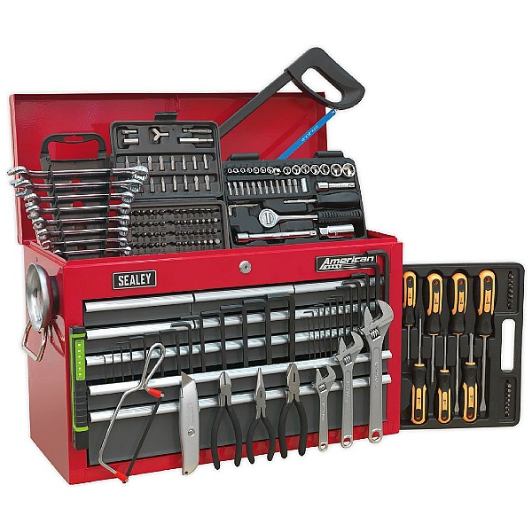 Sealey 9 Drawer Topchest With Ball Bearing Slides & 205pc Tool Kit
