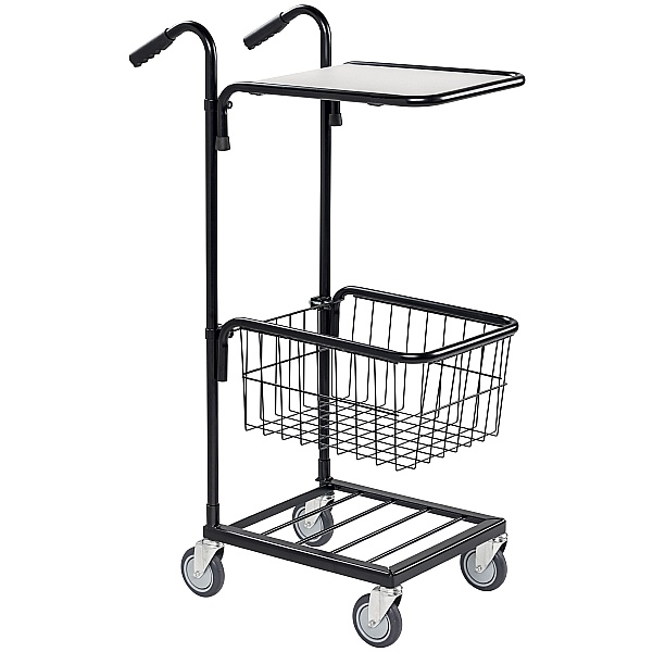 Konga Mini Mail and Picking Trolley with 1 Shelf and 1 Basket