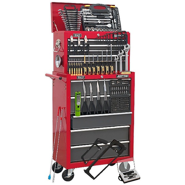 Sealey 14 Drawer Topchest & Rollcab Combination With 239pc Tool Kit
