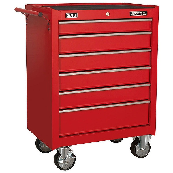 Sealey American Pro 6 Drawer Rollcab With Ball Bearing Slides