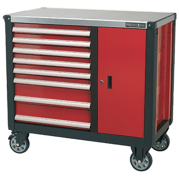 Sealey Premier 8 Drawer Mobile Workstation With Ball Bearing Slides