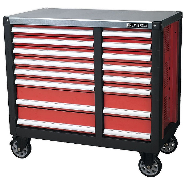 Sealey Premier 16 Drawer Mobile Workstation With Ball Bearing Slides