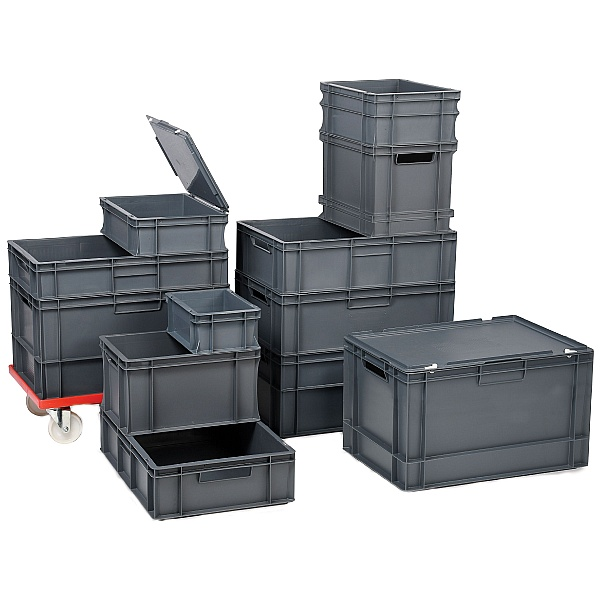 Euro Stacking Containers 22L Packs - 400W x 600D x 120H