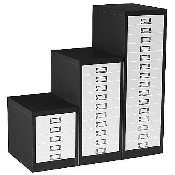 Silverline Two Tone Multidrawer Cabinets