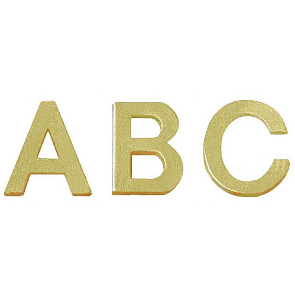 Bi-Office Letter Board Characters 19mm Gold (Pack