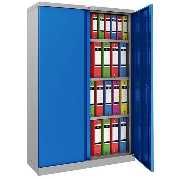 Phoenix SCL Series Steel Storage Cupboards - 2 Door 3 Shelf With Key Lock