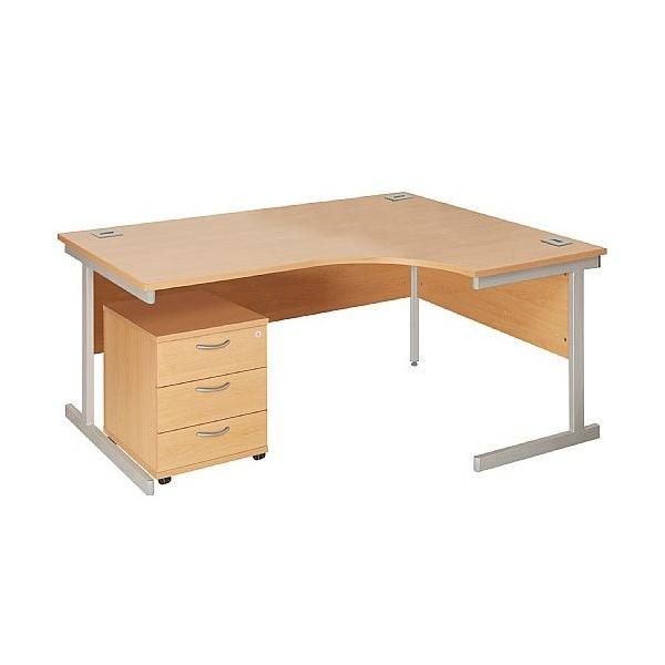 Commerce II Ergonomic Desks With Mobile Pedestal