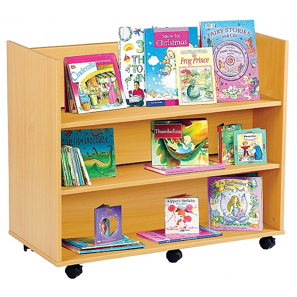 Double Sided Straight Library Bookcase