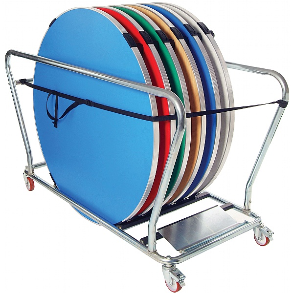 GoPak™ 5ft Round Folding Tables + Trolley Bundle