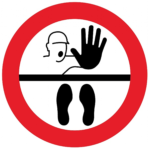 Safe Distance Floor Markers for Social Distancing With Illustration