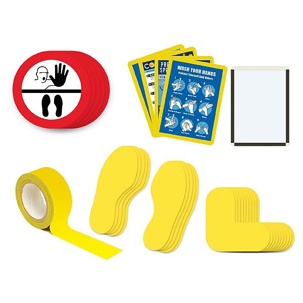 Safe Distance Floor Markers for Social Distancing Kit H - Illustration: STOP Keep Your Distance
