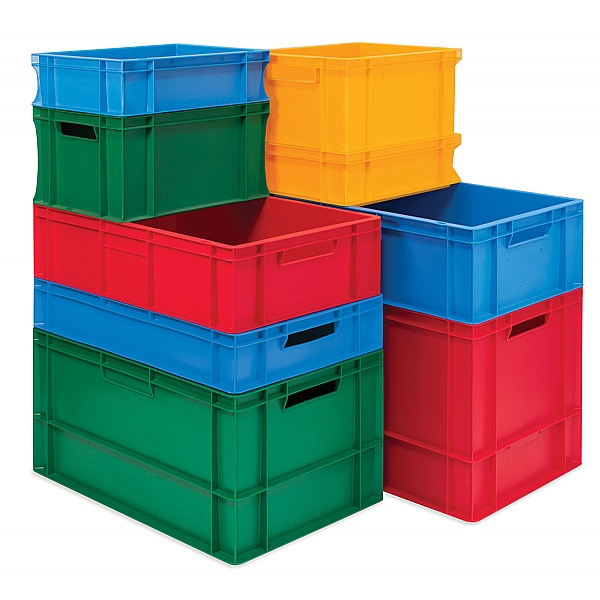 Coloured Euro Stacking Containers 22L Packs - 400W x 600D x 120H