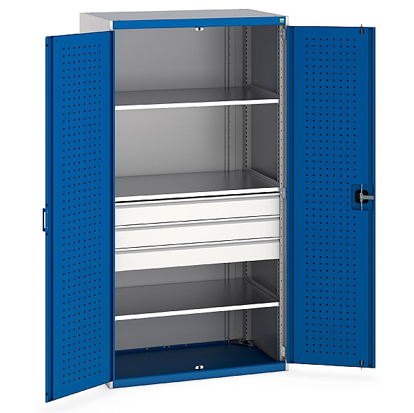 Bott Cubio Kitted Cupboards - 3 Drawers 2000H