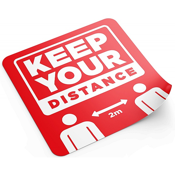 Social Distancing Floor Sticker Pack - Keep Your Distance 2m
