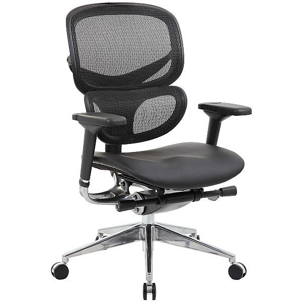 inSync 24 Hour Mesh Office Chair With Leather Seat