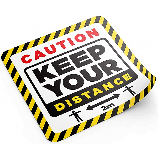 Social Distancing Floor Sticker Pack - Caution Keep Your Distance