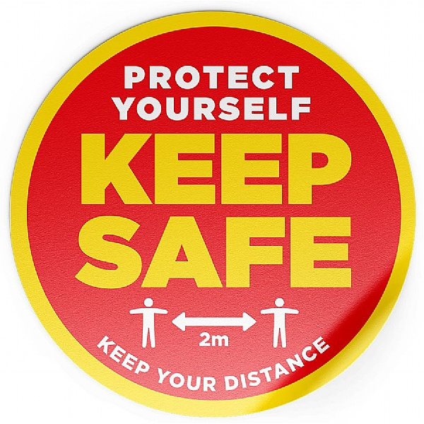 Social Distancing Floor Sticker Pack - Protect Yourself Keep Safe