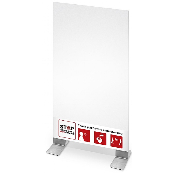 Protective Acrylic Germ Shield with Solid Feet Base