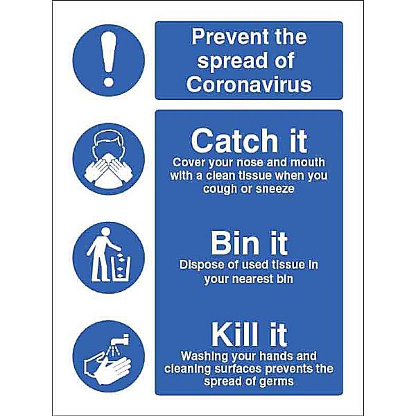Prevent the spread - Catch it - Bin it - Kill it