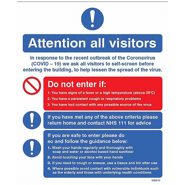 Attention All Visitors - In Response to the Recent Outbreak
