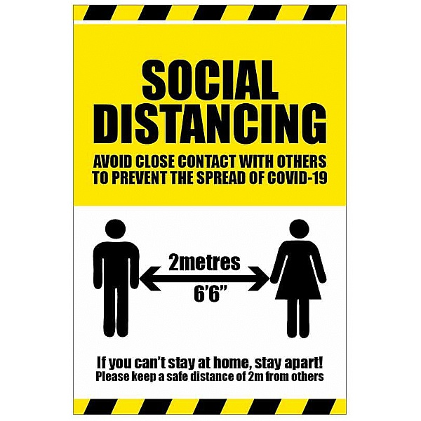 Social Distancing - If you can't stay at home stay apart - Floor Graphic